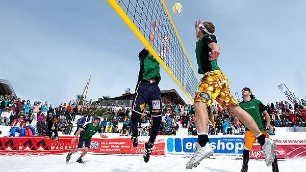 Снежный волейбол - Sputnik Латвия