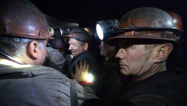Шахта имени Ткачука в Харцызске на Донбассе - Sputnik Латвия