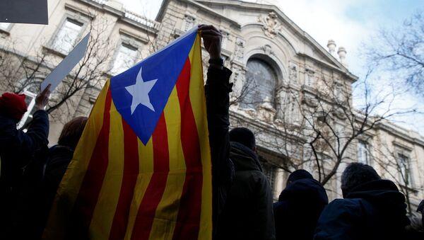 Katalonijas karogs. Foto no arhīva - Sputnik Latvija