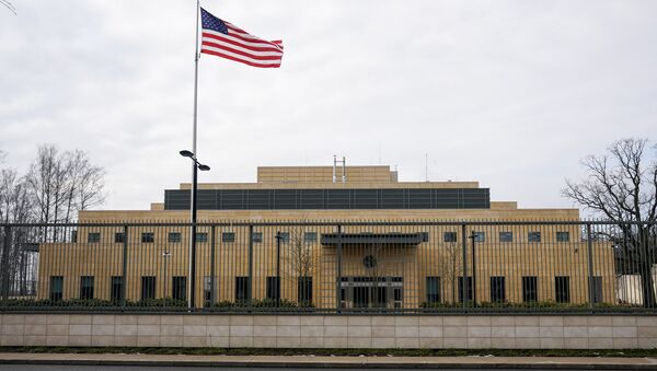Здание посольства США в Латвии - Sputnik Latvija