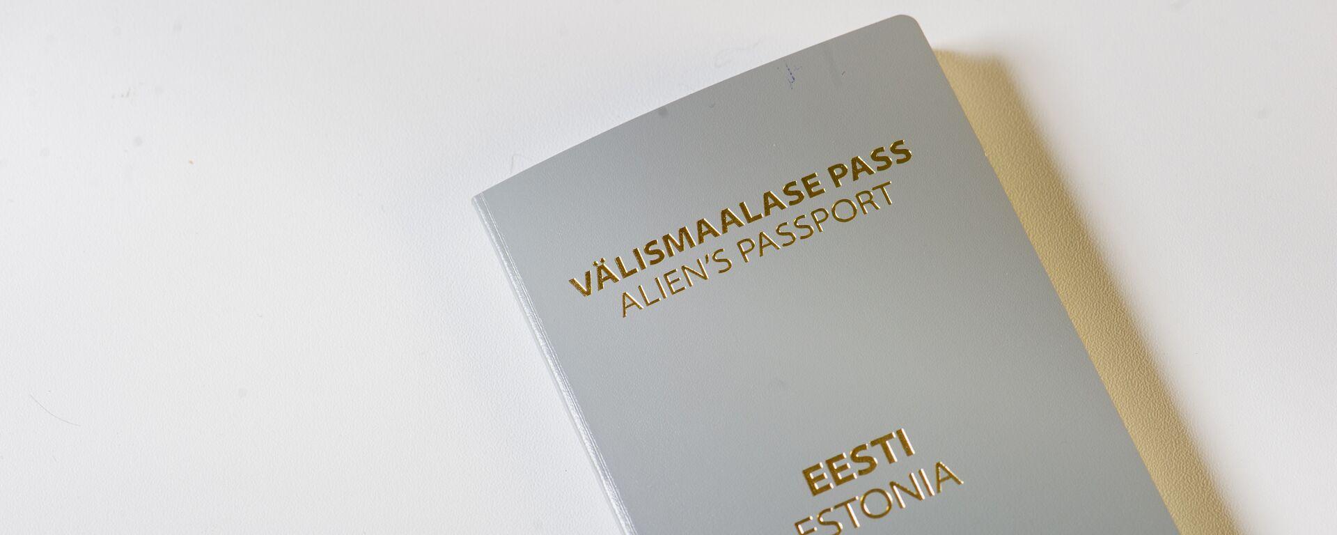 Серый паспорт негражданина Эстонии - Sputnik Латвия, 1920, 15.06.2021