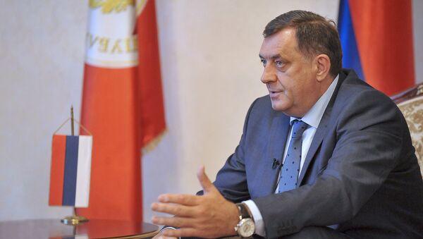 Миилорад Додик — президент Республики Сербской Боснии и Герцеговины  - Sputnik Latvija