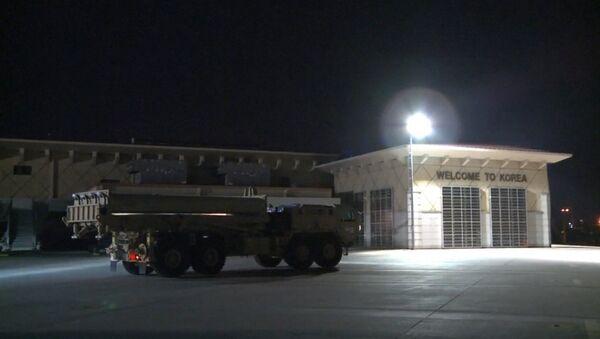 Dienvidkorejā piegādātas amerikāņu pretraķešu sistēmas THAAD - Sputnik Latvija