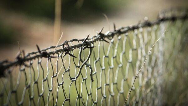 Забор с колючей проволокой - Sputnik Латвия