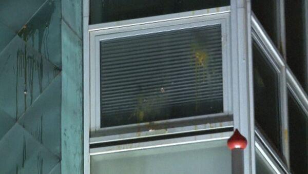 Протестующие забросали посольство Нидерландов в Анкаре яйцами - Sputnik Латвия