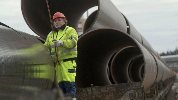 Первые трубы для строительства газопровода OPAL, архивное фото - Sputnik Latvija