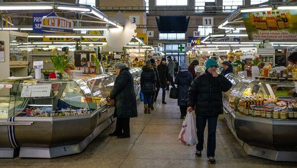 Молочный павильон на Центральном рынке - Sputnik Латвия