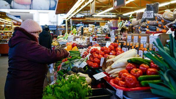 Овощной павильон на Центральном рынке - Sputnik Латвия