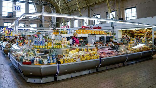 Молочный павильон на Центральном рынке - Sputnik Latvija