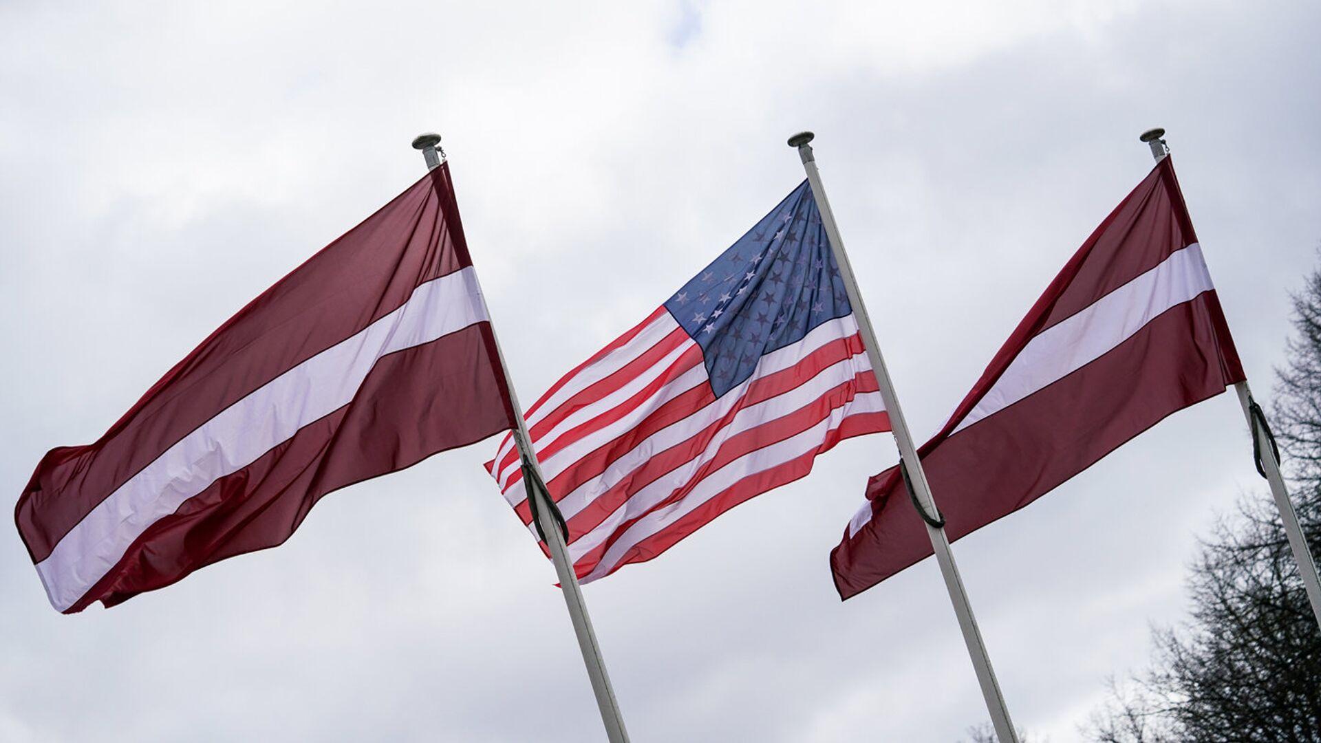 Флаги Латвии и США - Sputnik Latvija, 1920, 11.10.2021