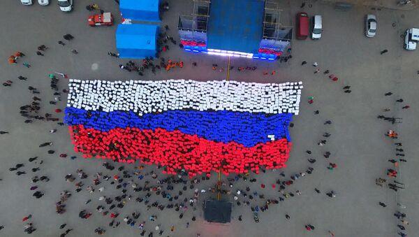 Живой флаг России в Севастополе - Sputnik Latvija