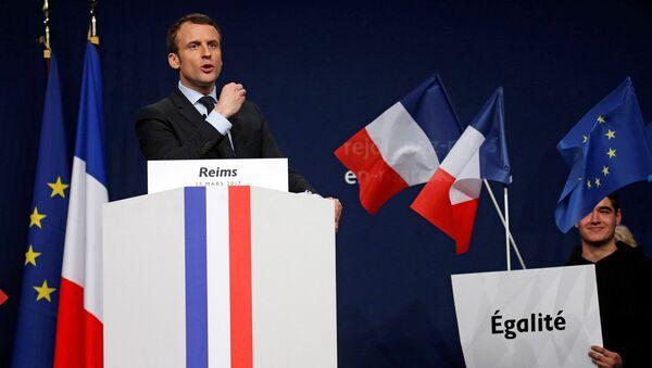 Francijas prezidents Emanuels Makrons - Sputnik Latvija