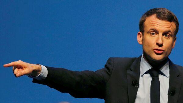 Francijas prezidenta kandidāts Emanuels Makrons - Sputnik Latvija