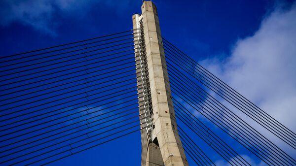 Фрагмент Вантового моста через Даугаву - Sputnik Latvija
