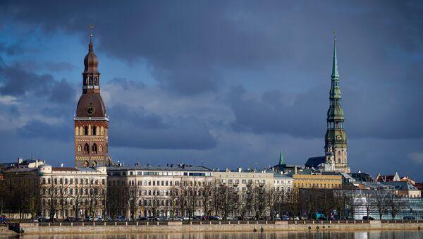 Doma baznīcas tornis un sv. Pētera baznīca, Vecpilsētas ainava - Sputnik Latvija