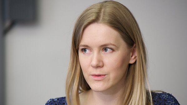 Координатор акции Тотальный диктант в Таллинне Яна Калинистова - Sputnik Латвия