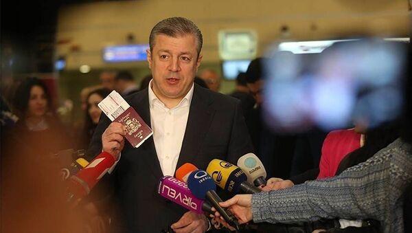 Премьер-министр Грузии Георгий Квирикашвили - Sputnik Latvija