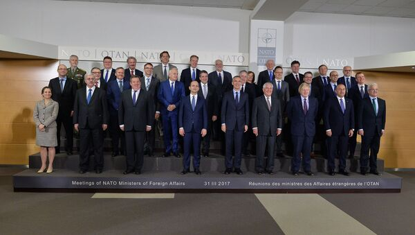 31 марта министр иностранных дел Эдгарс Ринкевичс принял участие в заседании министров иностранных дел стран НАТО в Брюсселе - Sputnik Латвия