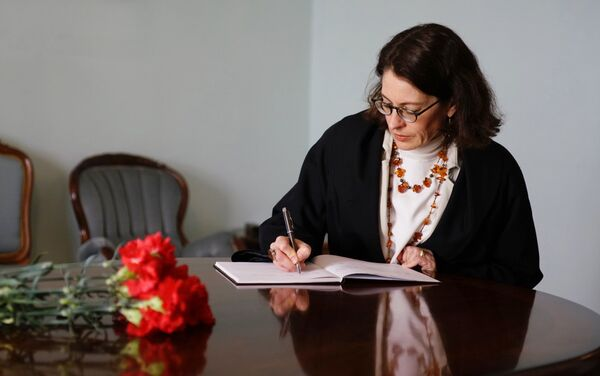 ASV vēstnieces vietniece Latvijā Šarona Hadsone-Dīna - Sputnik Latvija