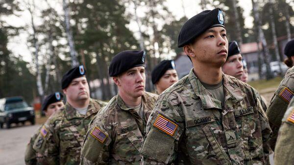 Американские военнослужащие на военной базе в Адажи - Sputnik Latvija