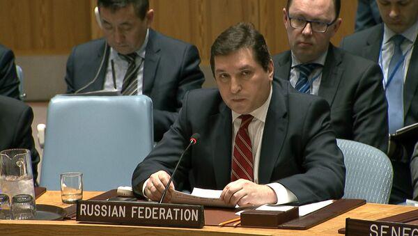 Krievijas pastāvīgā pārstāvja ANO vietnieks uzrunājis DP locekļus ārkārtas sēdē Sīrijas jautājumā - Sputnik Latvija