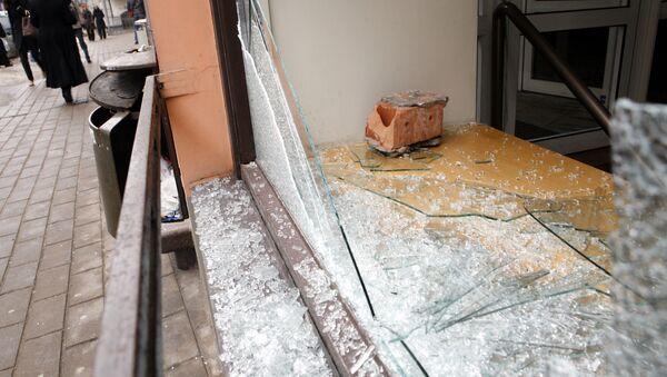Рига, последствие погромов 2009 года - Sputnik Латвия