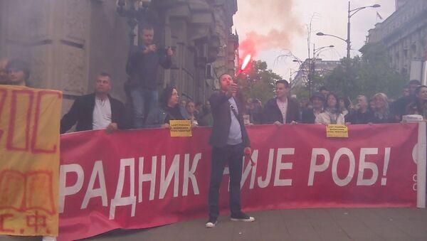 Антиправительственные протесты в Сербии - Sputnik Латвия
