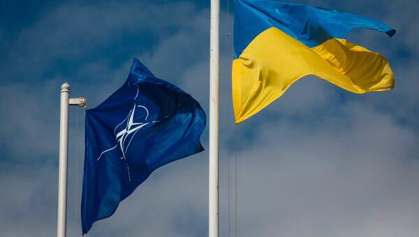Ukrainas un NATO karogi - Sputnik Latvija
