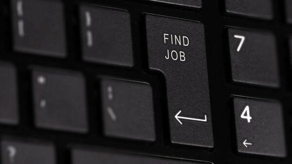 Кнопка на клавиатуре Найти работу - Sputnik Латвия