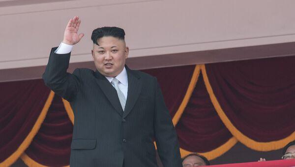 Глава КНДР Ким Чен Ын - Sputnik Latvija