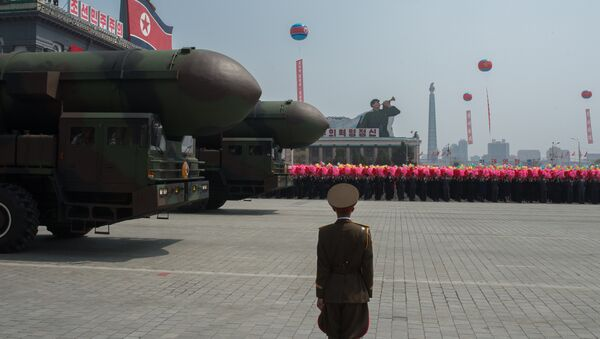 Пусковые установки межконтинентальных баллистических ракет Корейской народной армии - Sputnik Латвия