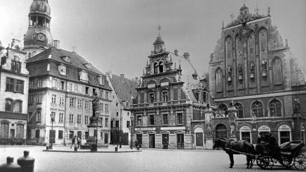 Площадь в Риге. Начало ХХ века - Sputnik Latvija