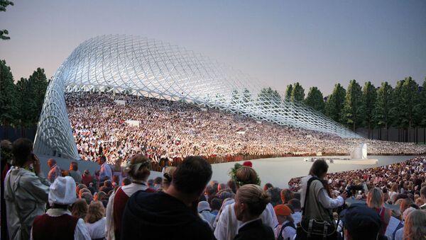 Так будет выглядеть Большая эстрада после завершения реконструкции в 2018 году - Sputnik Latvija