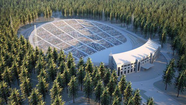 Реконструкция Большой эстрады в Межапарке - Sputnik Латвия