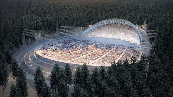 Реконструкция Большой эстрады в Межапарке - Sputnik Latvija