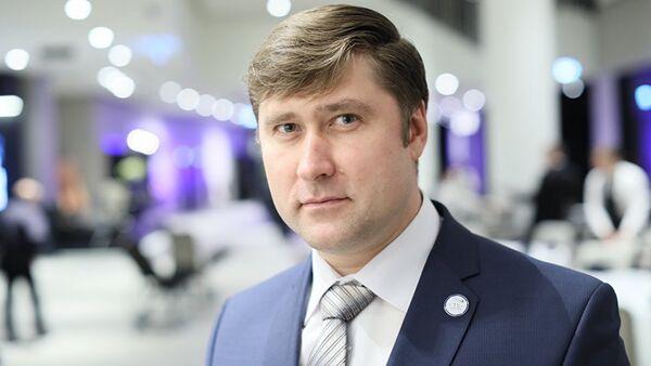 Председатель Профсоюза железнодорожников Эстонии Олег Чубаров  - Sputnik Латвия