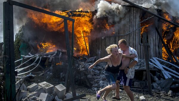 Darbu pie sērijas Ukrainas melnās dienas Valērijs Meļņikovs sāka 2014. gadā - Sputnik Latvija