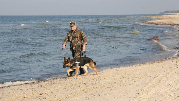 Robežsargs ar dienesta suni - Sputnik Latvija