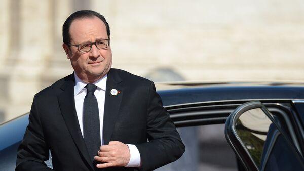 Esošais Francijas prezidents Fransuā Olands - Sputnik Latvija