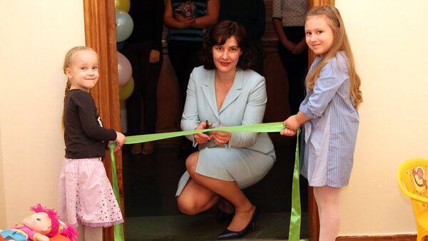Открытие детской комнаты в Министерстве финансов - Sputnik Латвия