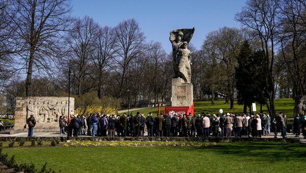 1. maijam veltītais Latvijas Sociālistiskās partijas mītiņš Rīgā - Sputnik Latvija