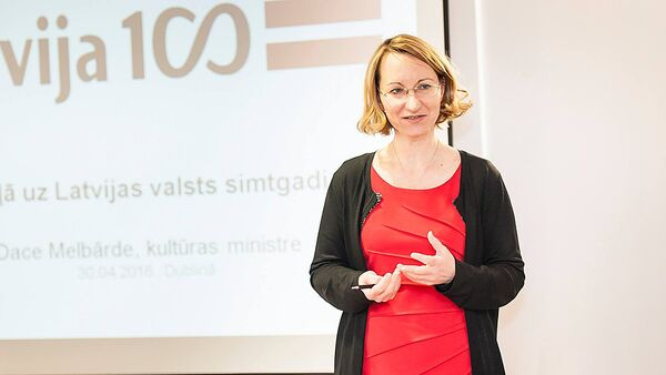 Kultūras ministre Dace Melbārde - Sputnik Latvija
