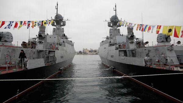 Малые ракетные корабли -  Зеленый Дол и Серпухов - Sputnik Латвия