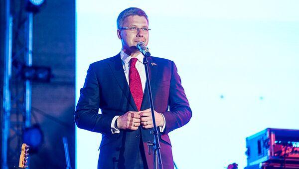 Мэр Риги Нил Ушаков на праздновании 9 мая в Парке Победы - Sputnik Латвия