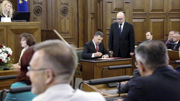 Участие в заседании Сейма, торжественная присяга Президента Латвии - Sputnik Латвия