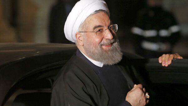Президент Ирана Роухани прибыл на встречу с премьер-министра Италии Ренци - Sputnik Latvija