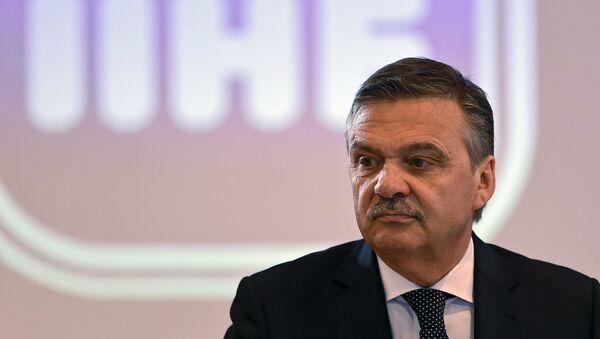 Президент Международной федерации хоккея Рене Фазель, архивное фото - Sputnik Латвия