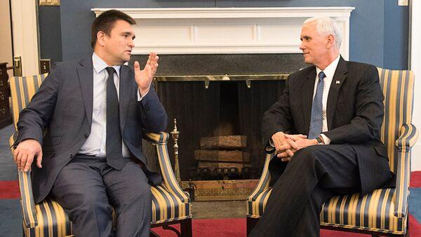 Встреча Павла Климкина с Майклом Пенсом в Белом Доме - Sputnik Латвия