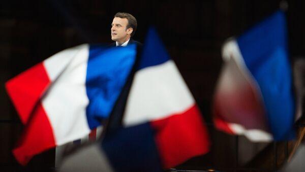 Избранный президент Франции Эммануэль Макрон - Sputnik Латвия
