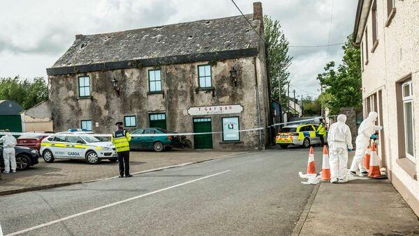 Полиция и судебные эксперты на месте смерти латвийки Риты Апине в графстве Килкенни на юго-востоке Ирландии - Sputnik Latvija